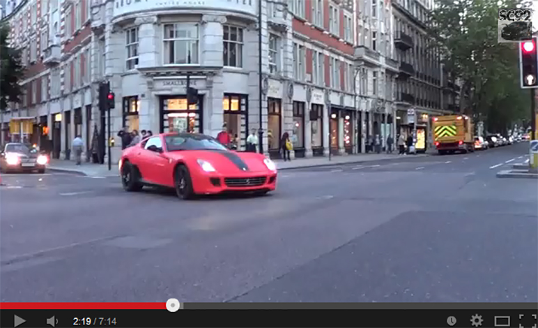 SUPERCAR HIGHLIGHTS IN LONDON – SUMMER 2012!!