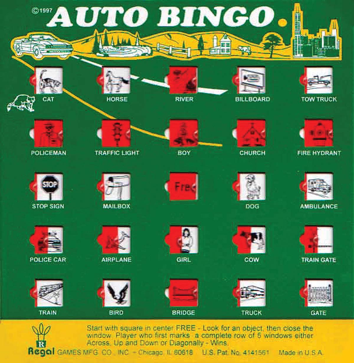 It's just a graphic of Impertinent Car Bingo Cards