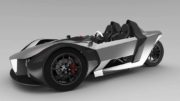Electric three-wheeler is designed for road and track: