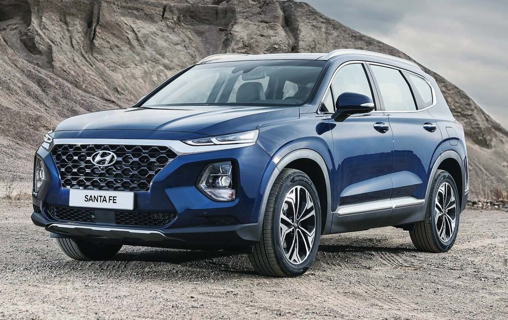 hyundai reveals a new santa fe with an even larger utility vehicle to follow the octane lounge. Black Bedroom Furniture Sets. Home Design Ideas