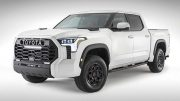 The 2022 Toyota Tundra shows blunt-force drama:
